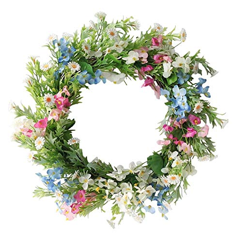 LEV Wreaths & Garlands - Artificial forsythia Wreath Primrose Wreath for Home Office Garden Party Wedding Arch Front Door Wall Window Decor - by 1 PCs