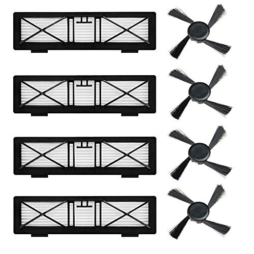 iAmoy Filtro de Repuesto y Cepillo Lateral Compatible Neato Botvac D Series D75 D80 D85 & 70e 75 80 85 y BotVac...