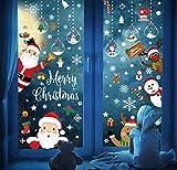 Santa Window Sticker Grandes Pegatinas de Ventana de Navidad Decoracion Navidad Exterior Interior Murales Decorativos Pegatinas Pared Puerta para Tienda Casa