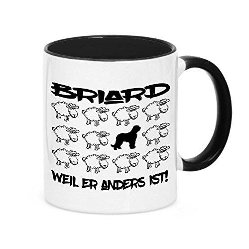 Tasse BLACK SHEEP - BRIARD Berger de Brie - Hunde Fun Schaf Kaffeebecher Siviwonder