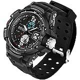 Dayllon 30M Waterproof Dual Display LED Sports Military Watches Men's Analog Quartz Digital Watch #Ddyl-1