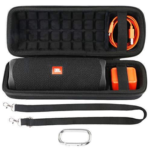 co2CREA Hart Tasche für JBL Flip 5 Bluetooth Box portabler Lautsprecher Hülle Etui Tragetasche (Hart Hülle, Schwarz)
