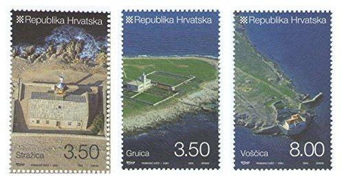 Leuchttürme Kroatien / 3er-Set offizielle Briefmarken 2009 - Scott # 739-741 / Kroatien/MNH