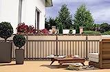 CV Balkon-Sichtschutz Balkon-Verkleidung Balkonumspannung Balkon-Windschutz Creme beige 24 m Kordel...
