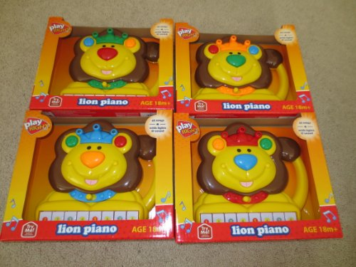 Lion Piano -- 42 Songs with lights & sound -- Age 18m+ -- Plays Songs in Piano or Saxophone Sound -- Child's Musical Toy