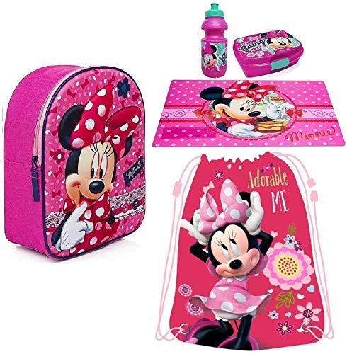 Minnie Disney Pois Rosa in 3D Zainetto Zaino, Sacca Sport, Porta Merenda Scuola Asilo Tempo Libero
