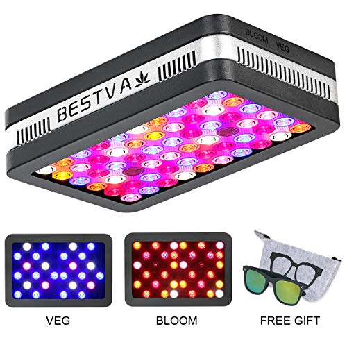 BESTVA Reflector Series 1200W COB LED Grow Light Full Spectrum Grow Lamp for Hydroponic Indoor Plants Veg and Flower (4 Dim Infrared Rays)