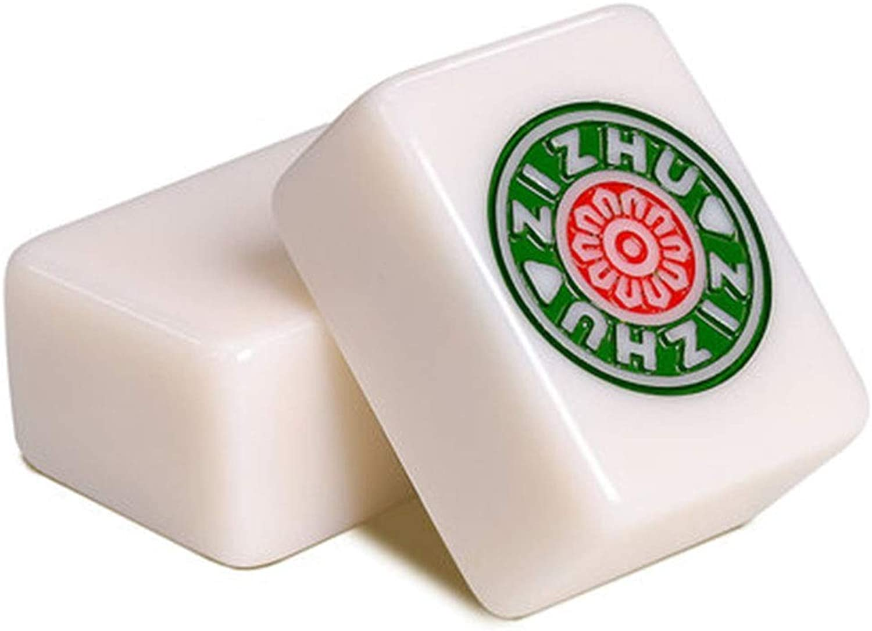 genuina alta calidad Mah Mah Mah Jong Mahjong Inicio Tarjeta de Mahjong de Mano Pequeña y Mediana de Mano Marca de Mahjong con Dados Tarjeta de hogar portátil de Tarjeta Alternativa (Color   blancoo, Talla   3.8  3  2cm)  Tu satisfacción es nuestro objetivo