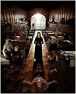 American Horror Story Asylum Jessica Lange as Sister Jude Martin with Cast at Briarcliff Promo 8 x 10 Photo
