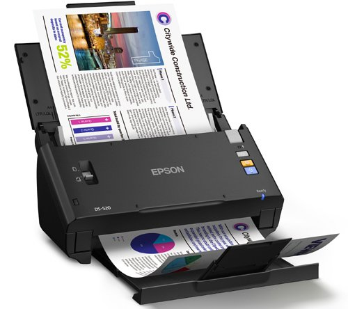 Epson WorkForce DS-520 Sheet-Fed Color Document Scanner for PC & MAC, Auto Document Feeder (ADF) & Duplex (B11B234201) Photo #5