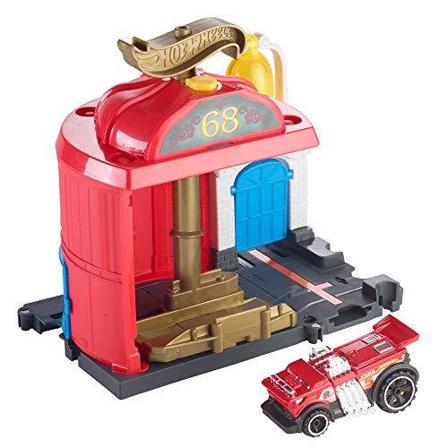 Hot Wheels FMY96 - City Spielset Feuerwache Set, Spielzeug ab 4 Jahren