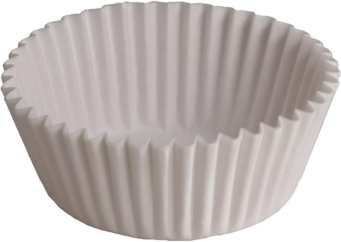 Hoffmaster 610010 Fluted Baking Cup 1 Ounce Capacity 3 1 2 Diameter X 15 16 Wall Height White 20 Packs Of 500
