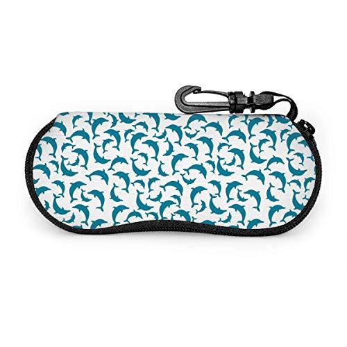 AOOEDM Estuche para gafas con diseño de delfines Estuche para gafas de sol Estuche blando para hombres y mujeres