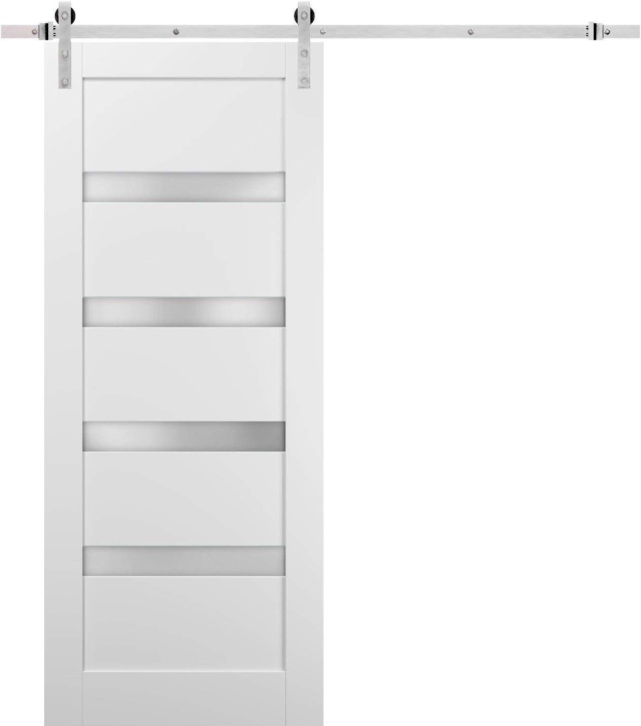 Sliding Barn Popular brand Door 18 x 80 Steel Stainless Hardware 6.6ft with Deluxe