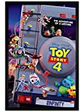 Toy Story 4 in schwarzes Holz eingerahmtes Adventure Poster