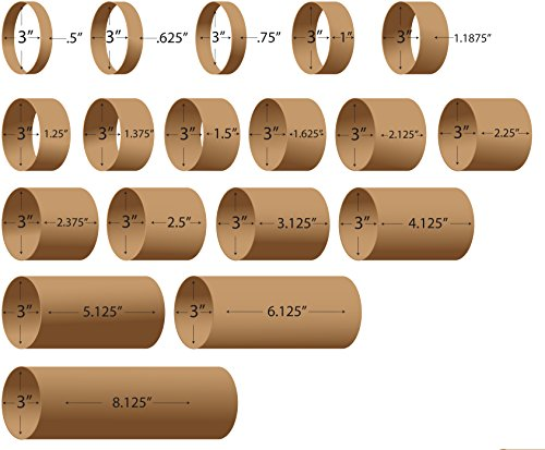 Label Cores 3' Inner Diameter. Rigid Cardboard. Variety of Widths Available. (3' Inner Diameter X 4.125' Width (30 Cores))