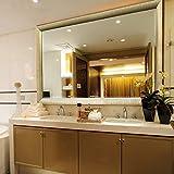 L-KCBTY Espejos De Baño Rectangulares,Espejo Maquillaje A Pared para Sala De Estar,Espejos De Entrada Decorativos (6 Tamaños)