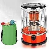 BKWJ Calentador de Queroseno de 10,000 BTU para Interiores, Estufa de Queroseno de 6 l con Bolsa de Almacenamiento, Calentador de Aceite portátil para Exteriores para Acampar en el jardín,Rojo