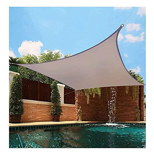 Vela de Sombra Toldo Vela Parasol Impermeable Exterior Rectangular Toldos Protección Rayos UV con 4 Cuerdas, para Jardín Terraza Patio Balcón Fiesta Mirador, Caqui(Size:3.6X3.6M)