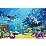 Fondos de Fiesta de Sirena bajo el Agua Castillo de mar Peces Coral Burbuja Princesa recién Nacido fotografía Fondos cumpleaños sesión fotográfica A31 7x5ft / 2,1x1,5 m
