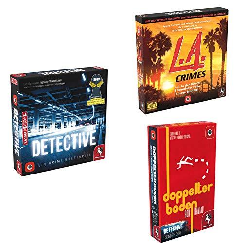 Pegasus Spiele 57505G - Detective (deutsche Ausgabe) + L.A. Crimes + Doppelter Boden