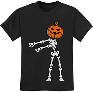 Skeleton Floss Dance Jack O' Lantern Pumpkin Halloween Youth Kids T-Shirt