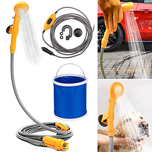 Learn More About Winning Outdoor Camping Shower Handheld Showers with Water Pump Plug and Folding Bu...