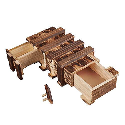 Amasawa Caja De Regalo De Madera, Caja Mágica, 2 Compartimentos, Regalo Creativo para...