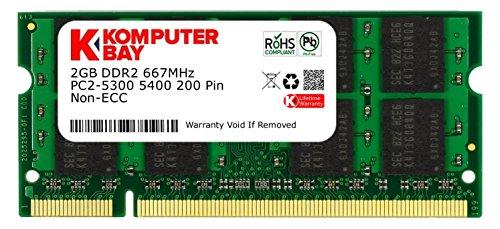 Komputerbay KB_2GBDDR2_SO667_11 - Modulo di memoria SODIMM DDR2 da 2 GB a 200 pin PC2 5400 PC2 5300 667MHz