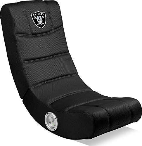 Imperial Officially Licensed NFL Furniture: Ergonomic Video Rocker Gaming Chair with Bluetooth, Oakland Raiders, Multi Color, one Size (114-1010)