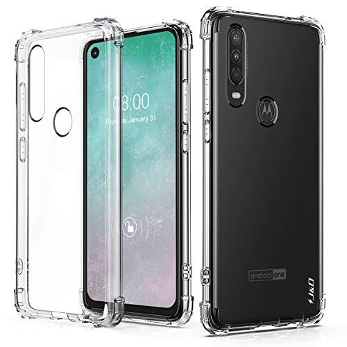 Capa J&D compatível com Motorola One Action Case/Motorola P40 Power Case, [almofada de canto] [ultratransparente] Capa protetora de TPU fina e resistente a choques para Moto One Action Cover - Transparente