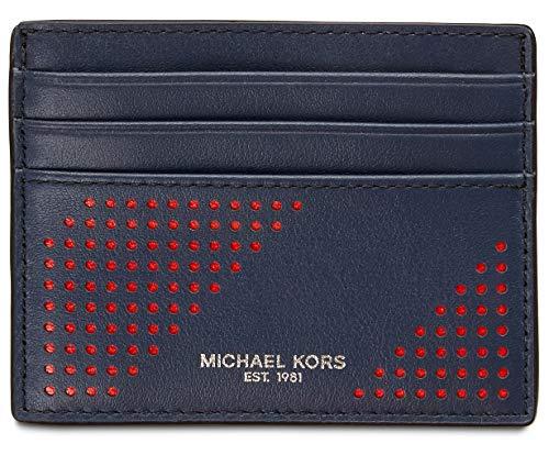 Michael Kors Hombres Kent Cuero Perforaed Card Case - - talla única