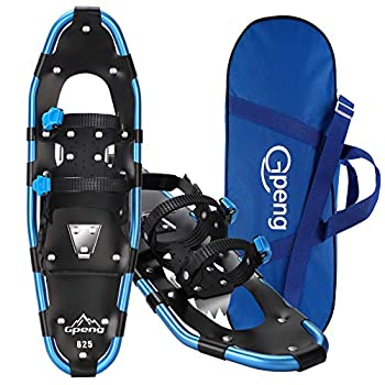 Gpeng Snowshoes for Men Women Youth Kids Lightweight Aluminum Alloy All Terrain Snow Shoes with Adjustable Ratchet Bindings with Carrying Tote Bag,14 /21 / 25 /27 / 30