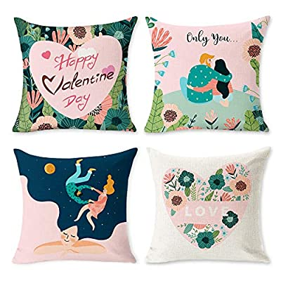 Amazon - Save 50%: JUMPING METERS Valentine Pillow Covers 18×18 Inch Valentine-Decorations Multi