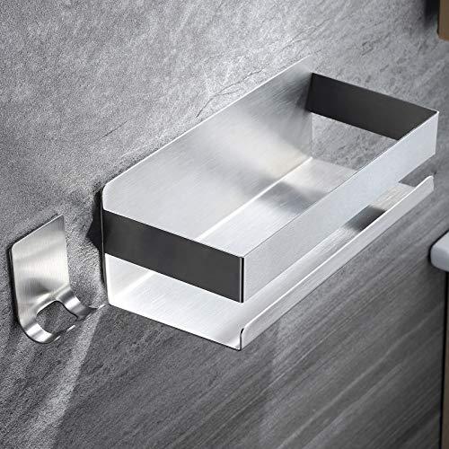 RUICER Estante de baño – Estante de ducha con gancho autoadhesivo, juego para baño o cocina, acero inoxidable