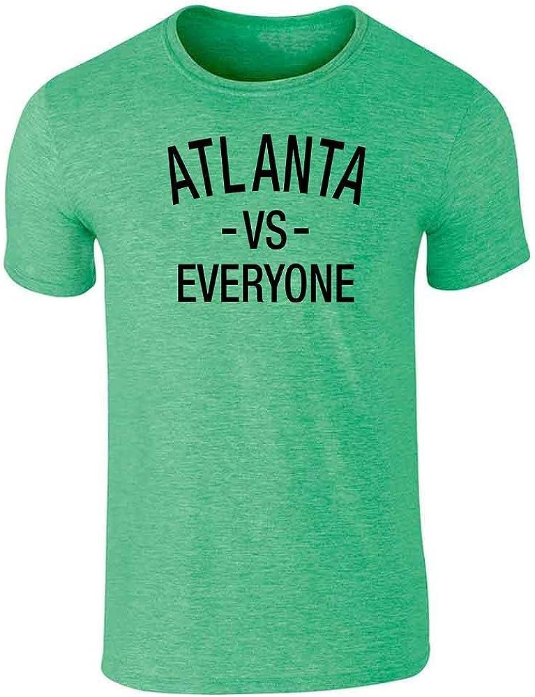 Pop Threads Atlanta vs Everyone Sports Fan Graphic Tee T-Shirt for Men