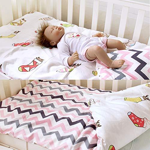 LWZY Bebé Lavable Sleeping Pad,algodón Desmontable Ruede