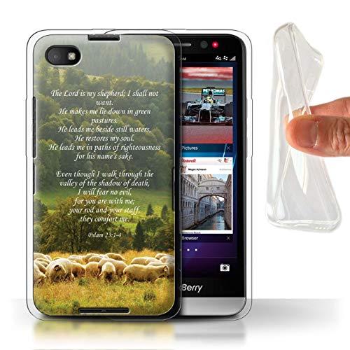 Hülle Für BlackBerry Z30 Christliche Bibel Vers Lord Shepherd/Psalm Design Transparent Dünn Weich Silikon Gel/TPU Schutz Handyhülle Case