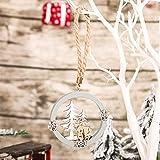 mnzncrfee 3 PCS Adornos de Madera Colgante Copo Nieve Madera Colgante Artesanía con Cuerda para Decoración del Árbol de Navidad, Regalo, Boda, Cumpleaños, Fiesta,A