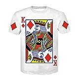 WWDDVH Estilo de Verano Hip Hop Camiseta Hombre/Mujer Jugando a Las Cartas...