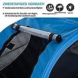 PawHut® Hundeanhänger Fahrradanhänger Hunde Fahrrad Anhänger Blau/Schwarz NEU - 5
