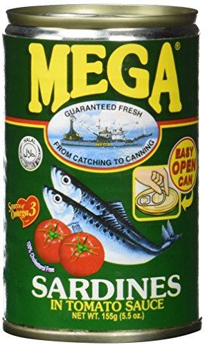 Mega Sardinen Tomaton Sauce/grün, 24er Pack (24 x 155 g)