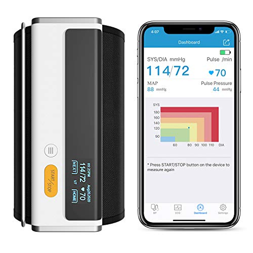 Wellue Armfit Plus™ Blood Pressure Monitor Bluetooth, Upper Arm Cuff, Accurate Digital BP Machine, Heart Health Monitoring Device, Free for iOS & Android