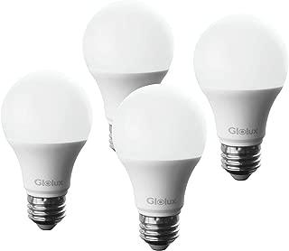 Glolux Dusk to Dawn Light Bulb Led Outdoor Lighting 60 watt Equivalent Sensor Lights Outdoor with Automatic Light Switch for Front Porch, Front Door, Garage Door, 800 Lumen, Daylight 5000K Pack of 4