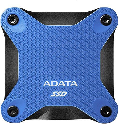 ADATA SD600Q - Disco Duro Externo de Estado sólido (480 GB), Color Azul