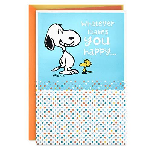 Hallmark Peanuts Geburtstagskarte (Snoopy, Whatever Makes You Happy) (399RZB1405)