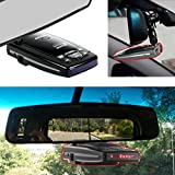 AccessoryBasics Car Rearview Mirror Radar Detector Mount Compatible with Select Passport 9500ix 9500i Passport 8500 7500 X50 x70 x80 Solo S2 S3 S4 SC 55 s75 s75g Radar Detectors