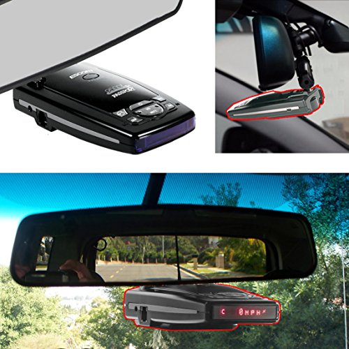 AccessoryBasics Car Rearview Mirror Radar Detector Mount for Escort Passport 9500ix 9500i Passport 8500 7500 X50 x70 x80 Solo S2 S3 S4 SC 55 s75 s75g Beltronics RX65 Red Vector 995 955 Radar