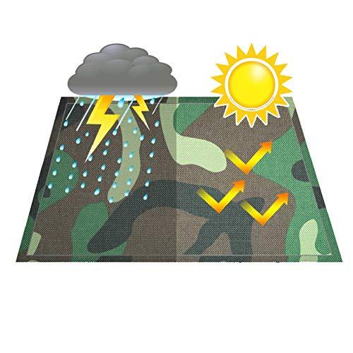 GHHZZQ Lona de Camuflaje Tarea Pesada Impermeable Resistencia Al Desgarro Cubierta de Lona Al Aire Libre Selva Cámping, 0,38 mm Espesor, Los 2x1.5m (Color : A, Size : 4x4m)
