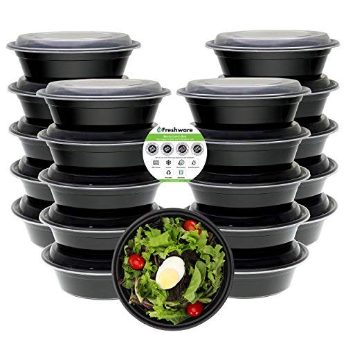 Freshware YH-7023 Meal prep containers, Medium, Clear